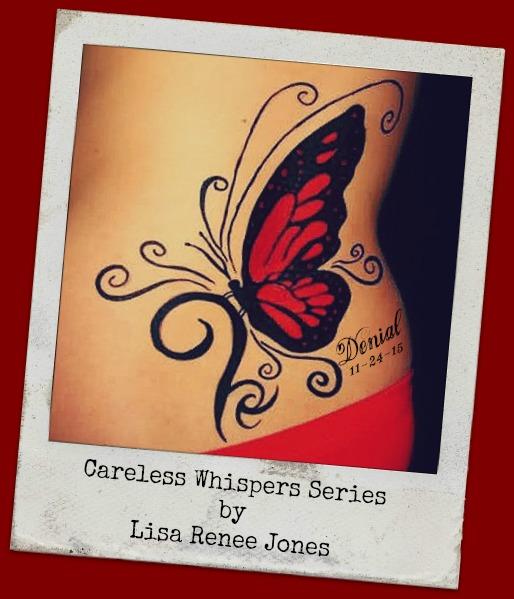 Denial butterfly tattoo
