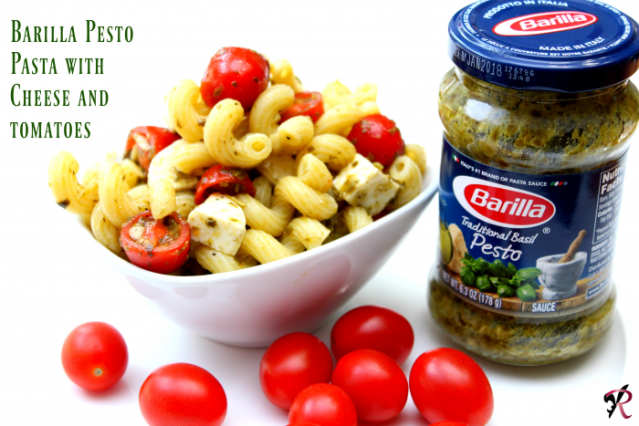 barilla-pesto-pasta-with-cheese-and-tomatoes-raes-books-and-recipes